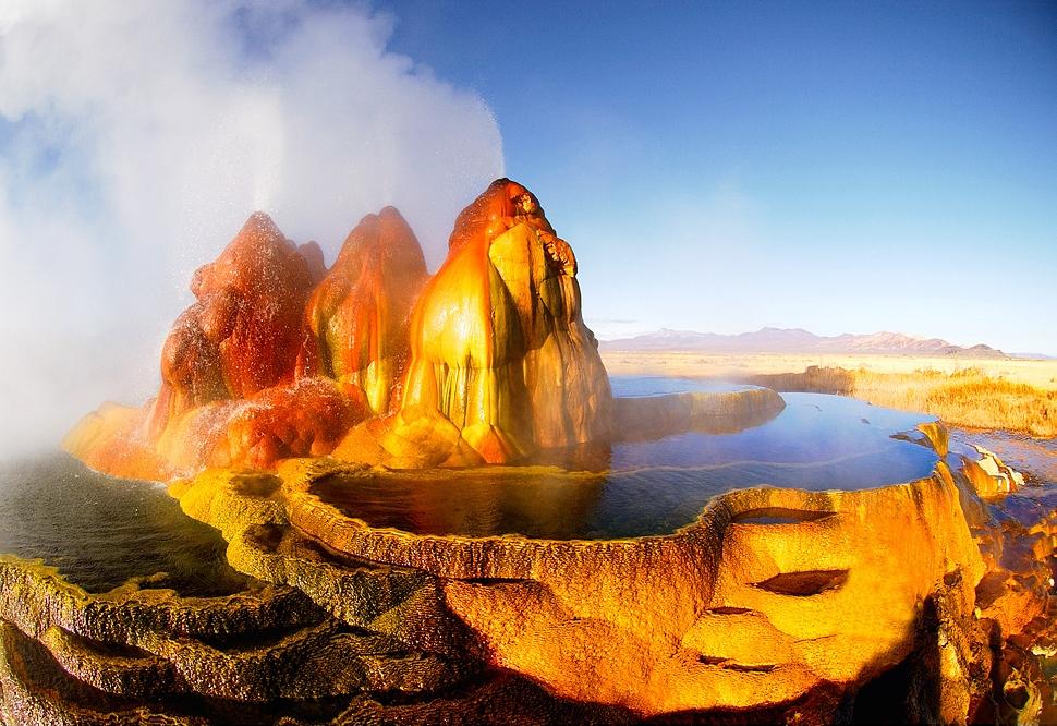 cảnh đẹp sa mạc - Fly Geyser
