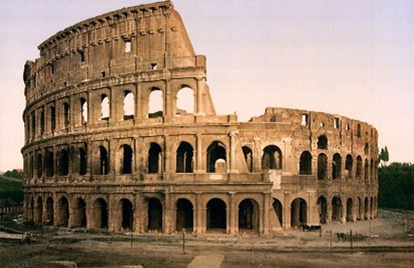 Đấu trường Rome thời La Mã.