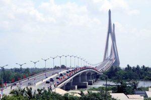 Cầu Cần Thơ nối liền 2 bờ Cần Thơ - Vĩnh Long