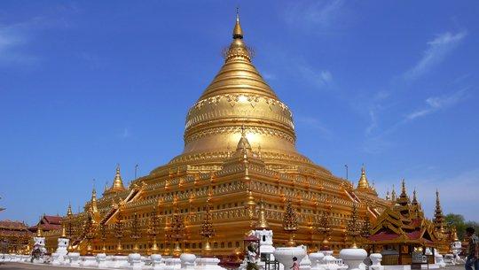 Chùa vàng Shwezigon - ngôi chùa Vàng lớn thứ 2 của Myanmar.