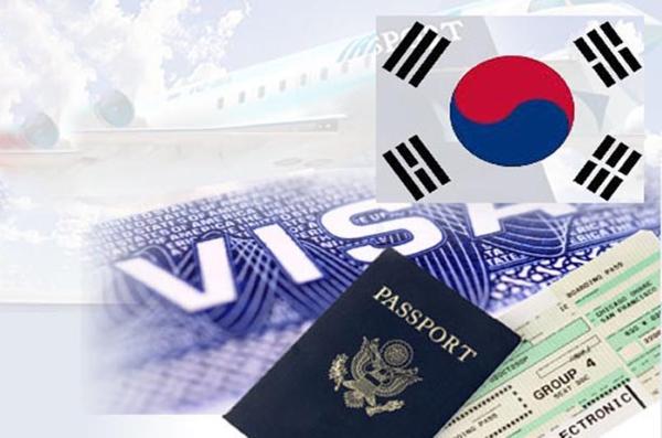 hộ chiếu có đóng dấu visa để đi hàn quốc