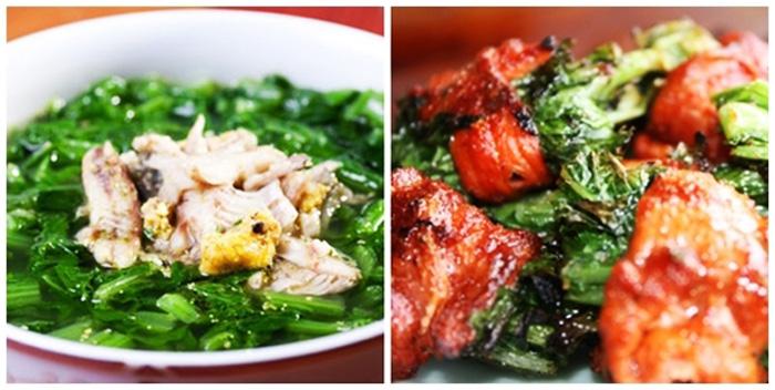 Các món ăn từ rau cải mèo Sapa