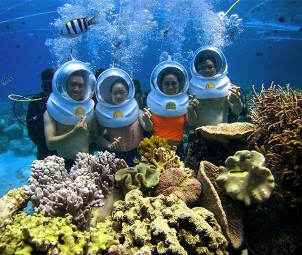 Đảm bảo an toàn khi tham gia đi bộ dưới lòng biển